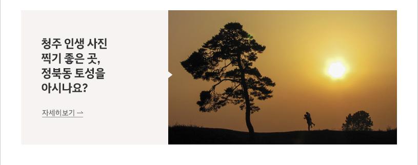 청주 인생 사진 찍기 좋은 곳, 정북동 토성을 아시나요?