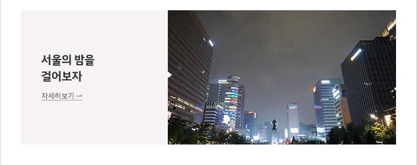 서울의 밤을 걸어보자