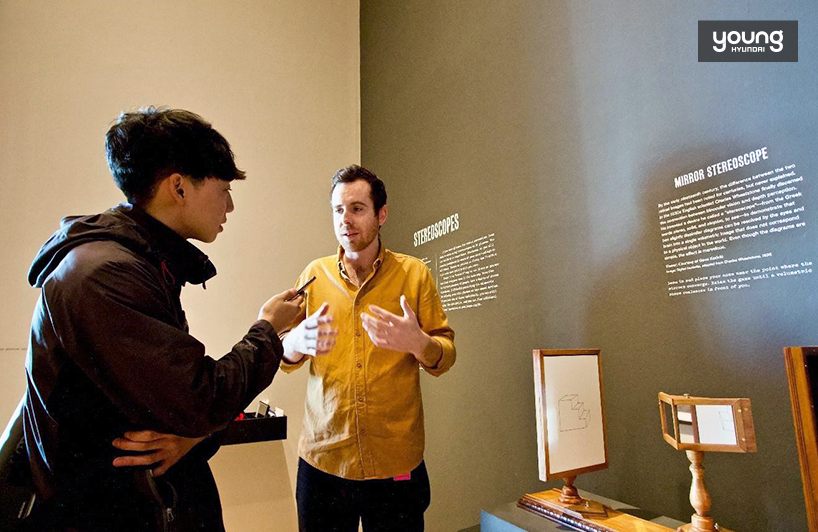 ▲ Nicholas Barlow, Curatorial Assistant at LACMA guided the team through the exhibited works