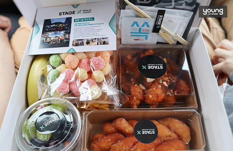 Để hồi sinh nền kinh tế địa phương, chúng tôi đã mua thực phẩm tại chợ Wondang để tạo thành hộp thực phẩm.